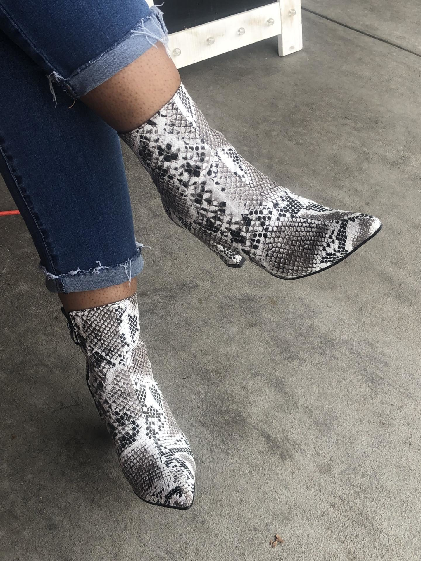 how-i-style-snake-skin-booties