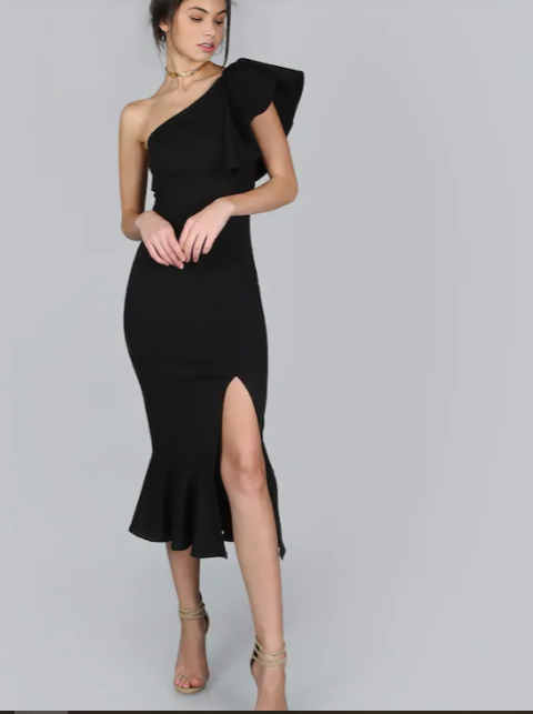 black-ruffle-dress-shein-valentines