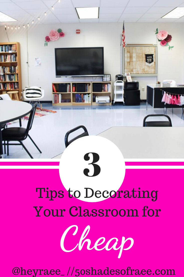 picture of a classroom for tips on how to decorate a classroom for cheap.
