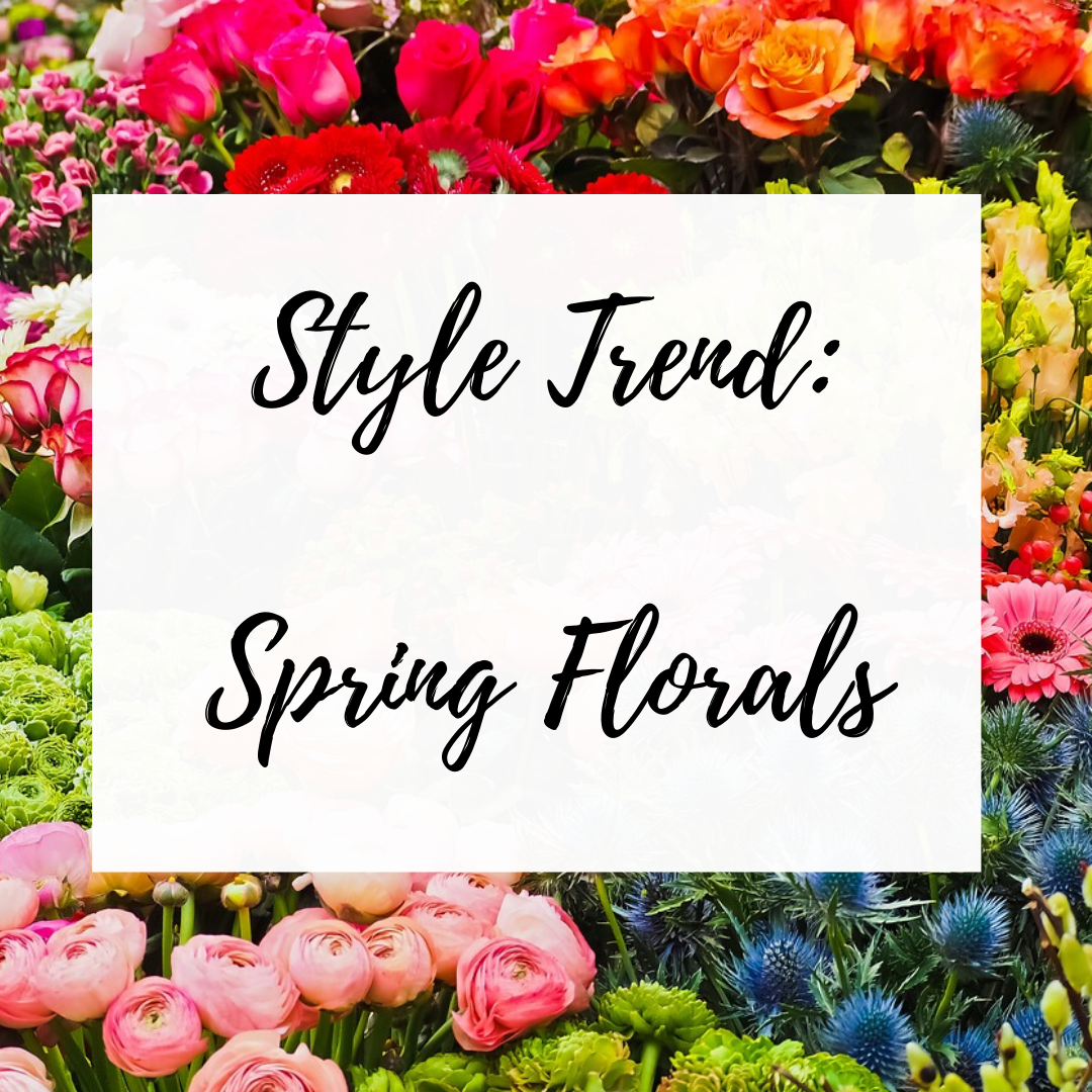 blog post sharing spring floral outfits and trends for twenty twenty on 50 shades of raee dot com
