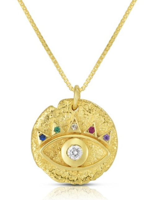evil eye coin necklace from sphera milano
