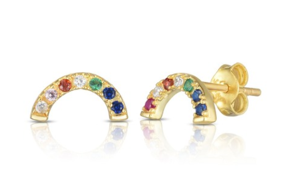 rainbow stud earrings from sphera milano