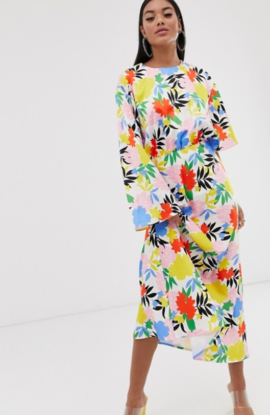 floral length maxi dress on asos dot com