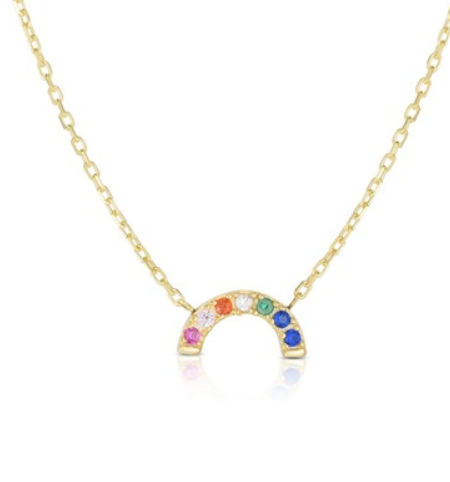 rainbow pendant necklace from sphera milano