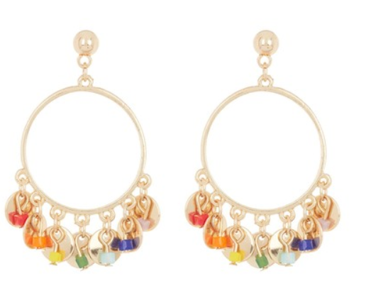 rainbow fringe earrings from area stars