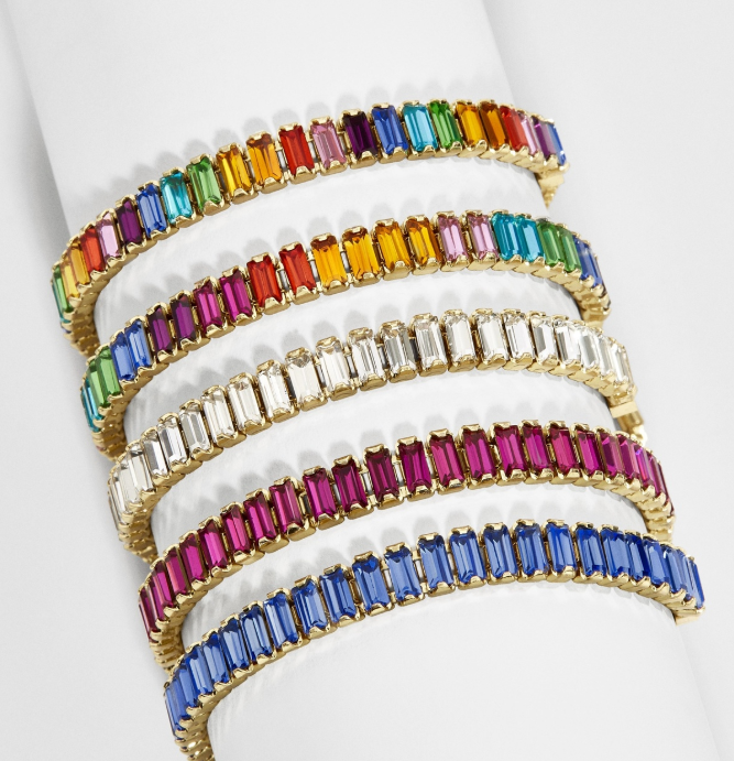 Stackable rainbow bracelets