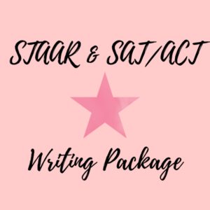 staar & sat & act writing package offered on 50 shades of raee dot com